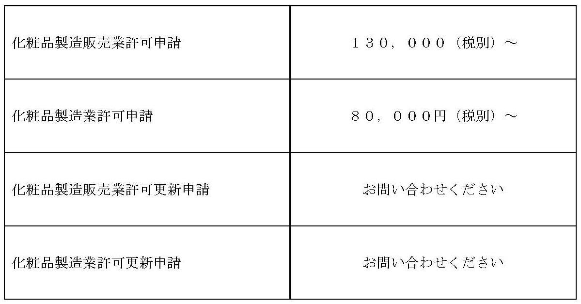 201803価格表(化粧品関係のみ)