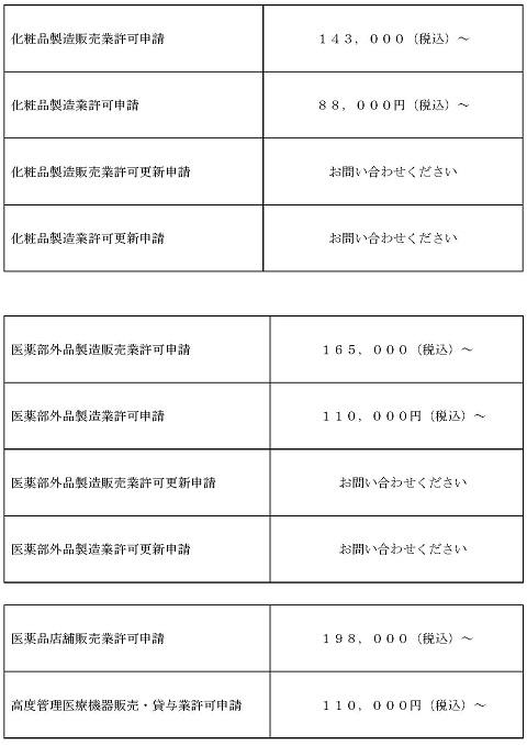 20210401価格表(化粧品関係)